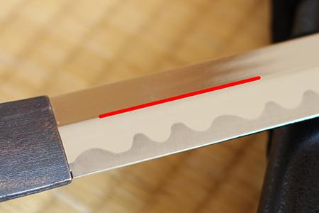 日本刀の鎬